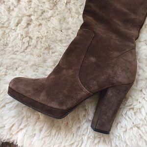 ca4d18c0ae5d Miu Miu Shoes - Miu Miu Platform Tall Suede Boots